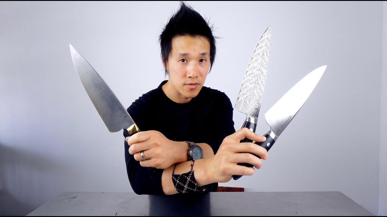 Bob Kramer Carbon vs Damascus SG2 vs Stainless Chef Knives