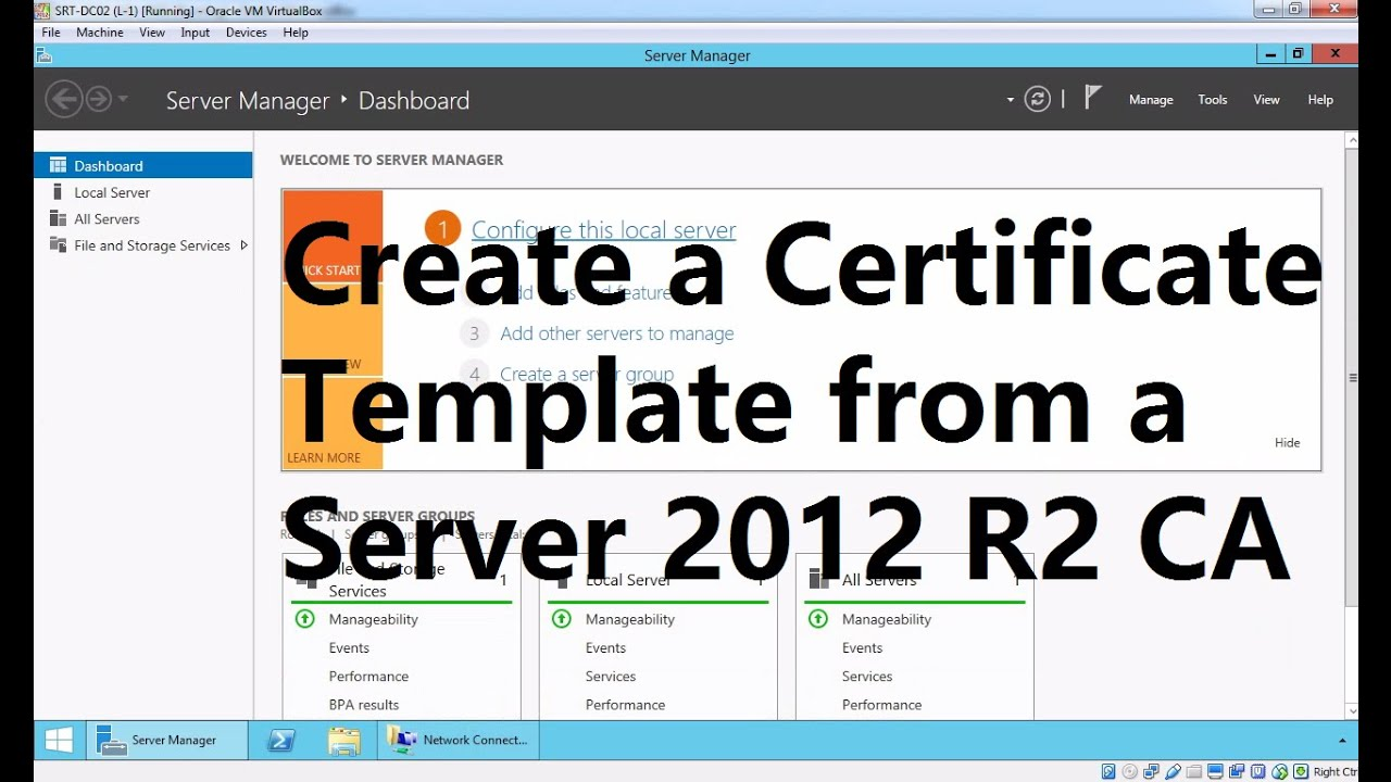 Create a Certificate Template from a Server 2012 R2 Certificate Authority
