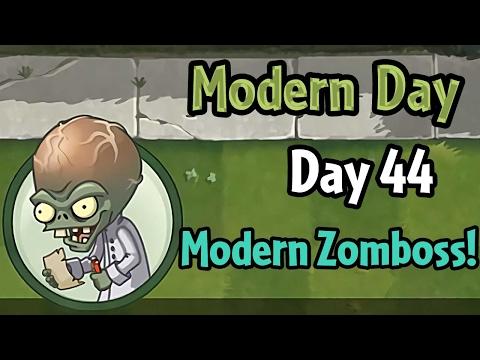 Растения против Зомби 2 Modern Day День 44: Modern Day Zomboss!