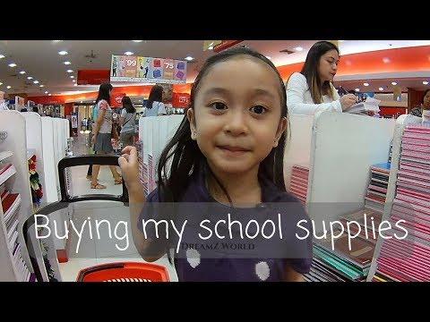 Buying School Supplies (Marvel, Disney themed notebooks)