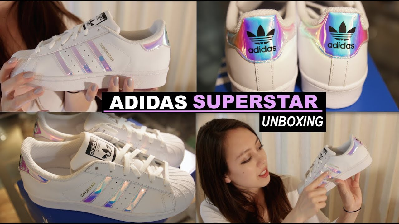 Adidas Superstar Holographic Stripes Unboxing