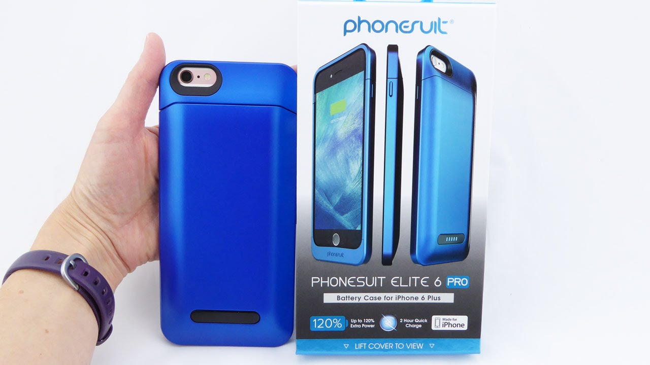 innovative design 30847 9daf4 PhoneSuit Elite 6 Pro: A Sleek, Powerful Battery Case for iPhone 6s Plus