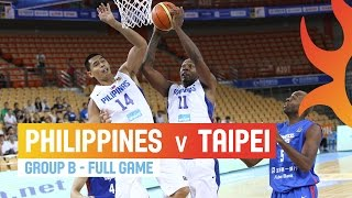 Philippines v Chinese Taipei - Full Game Group A - 2014 FIBA Asia Cup