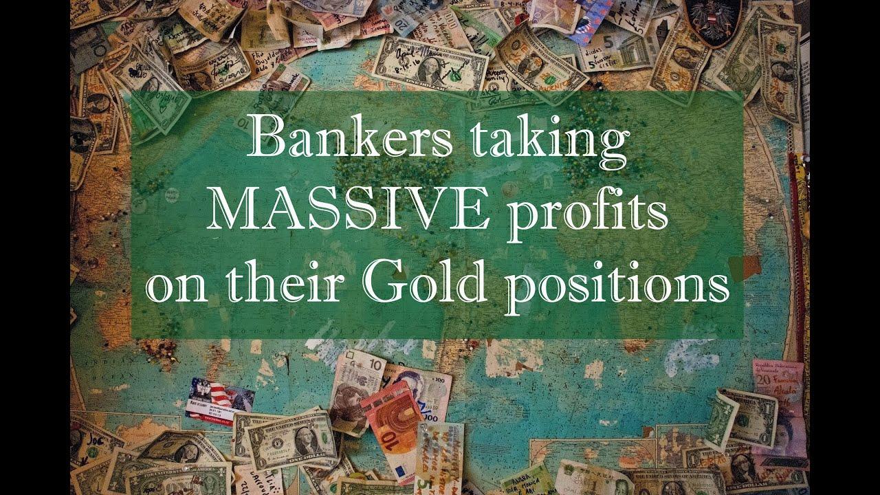 Bankers taking massive profits on #GOLD