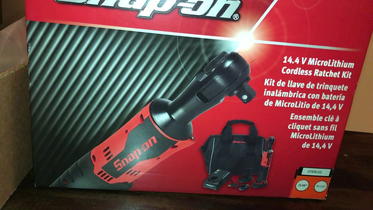 snap on 3 8 cordless ratchet ctr761 unboxing youtube. Black Bedroom Furniture Sets. Home Design Ideas