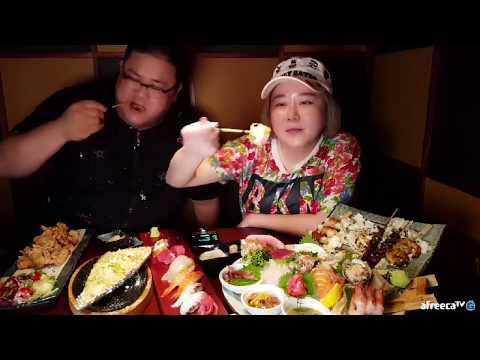 [폭소먹방]방이동 만주 이자카야 현기증남 갓형욱과 코스요리먹방♥애봉이 EatingShow SocialEating