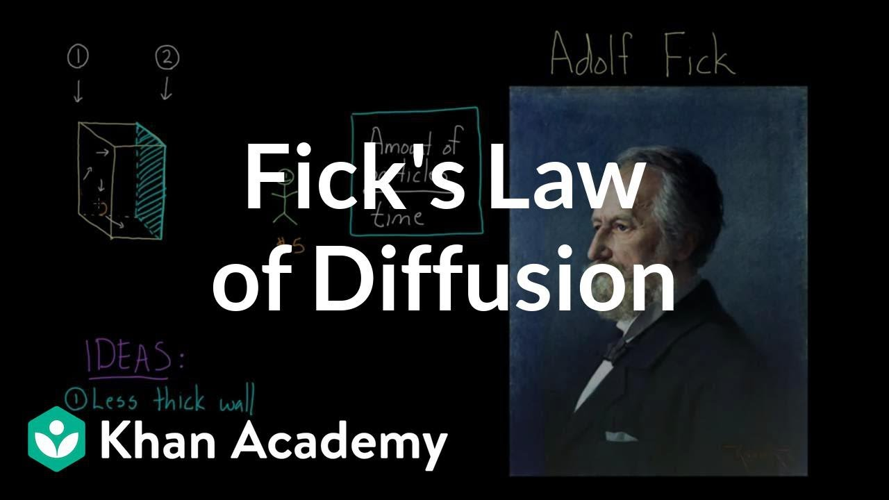 Fick\'s law of diffusion | Respiratory system physiology | NCLEX-RN ...