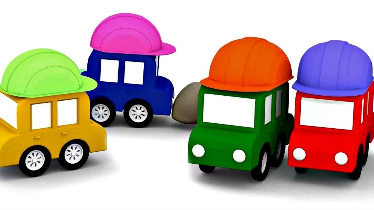dessin anim ducatif pour enfants de 4 voitures constructeurs youtube. Black Bedroom Furniture Sets. Home Design Ideas