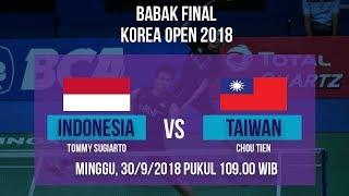 Download Video Jadwal Final Korea Open 2018 INDONESIA vs TAIWAN Pukul 09 00 WIB MP3 3GP MP4