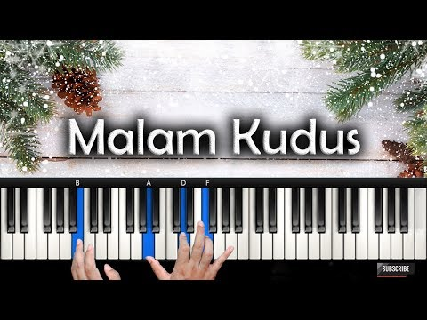 Belajar Piano MALAM KUDUS - Holy Night | Rohani Piano Keyboard