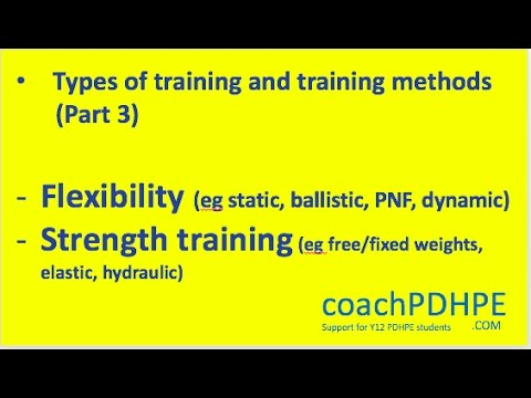 HSC PDHPE Core 2 Types of Training - Flexibility and strength ...