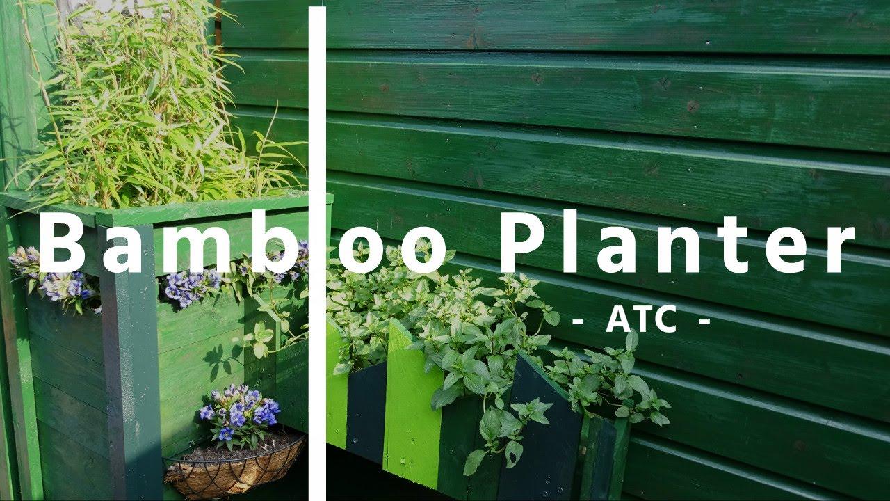 How To Make A Long Bamboo Planter Diy Youtube