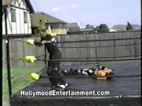 wwe 39 s josh mathews doing backyard wrestling never before released