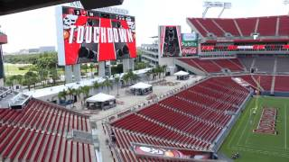 New Video Boards At Raymond James Stadium