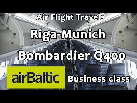 Trip Report : Riga to Munich | Air Baltic | Bombardier Q400 | Business Class | RIX - MUC | ΒΤ221