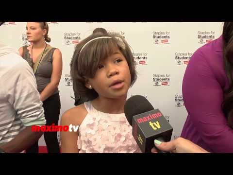 Storm Reid Interview Staples for Students 2013 Teen Choice Awards After Party