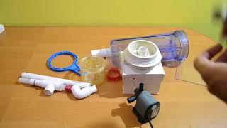 простой пенник (скиммер), из колбы от бытового фильтра, для морского аквариума