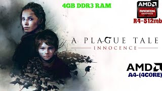 [Radeon R4] A Plague Tale Innocence in AMD Radeon R4 and 4gb ram