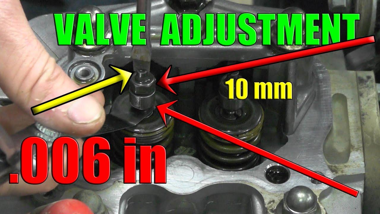 honda rancher 350 valve adjustment 2000 2006 intake exhaust set at 006 in