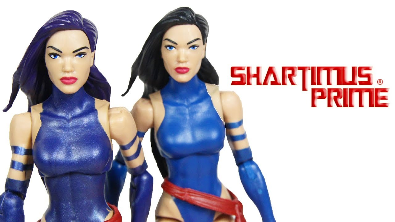 Marvel Legends Psylocke Purple Hair Variant Apocalypse BAF ... Marvel Now Psylocke