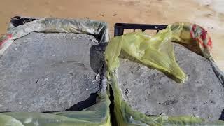 Какой бетон крепче? С наполнителем или без? Эксперимент..