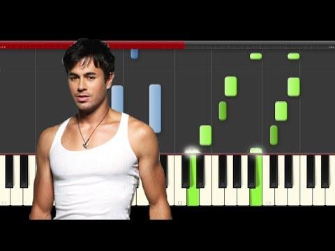 Enrique Iglesias Subeme la Radio piano midi tutorial sheet partitura cover app karaoke cover drumm