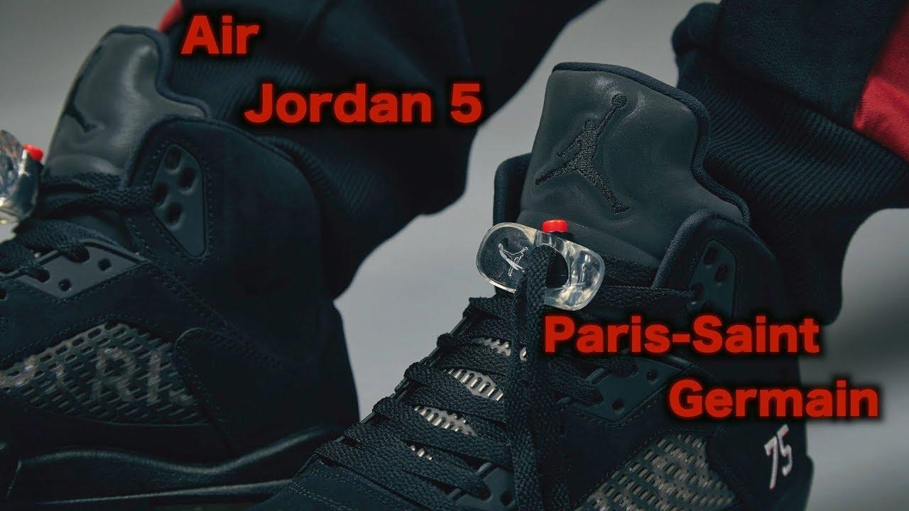 afc141040ff Air Jordan 5 Retro X Paris Saint Germain - YouTube