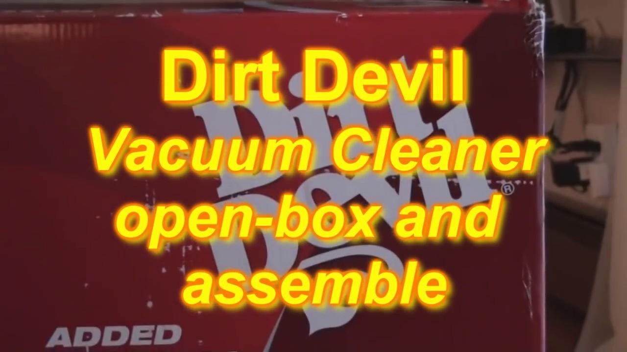 Dirt Devil Vacuum Open Box Walk Through Youtube Bissell Carpet Cleaner Parts Diagram Further Breeze Bagless