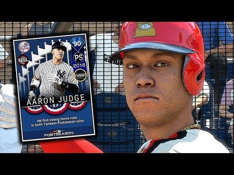 POSTSEASON AARON JUDGE DEBUT!! MLB THE SHOW 18 DIAMOND DYNASTY
