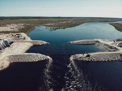 Белопорожская МГЭС - вахта 34 (Июль 2019) перекрытие русла реки Кемь!
