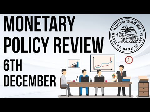 6th December Monetary Policy Review of RBI - Complete analysis for IBPS SBI UPSC RBI Grade B