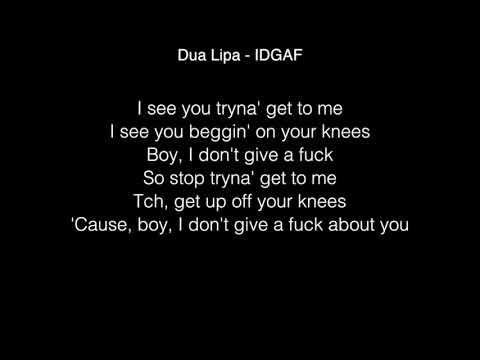 Dua Lipa - IDGAF Lyrics ft. Charli XCX, Zara Larsson, MØ, Alma (In the Live Lounge)