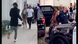 Rich The Kid Runs From Police After They Try To Arrest Offset In Beverly Hills