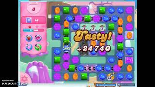 Candy Crush Level 1467 Audio Talkthrough, 2 Stars 0 Boosters