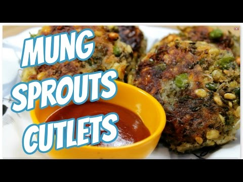 How to  make sprouted moong cutlets | healthy | Sprout recipes by Diet Delicious