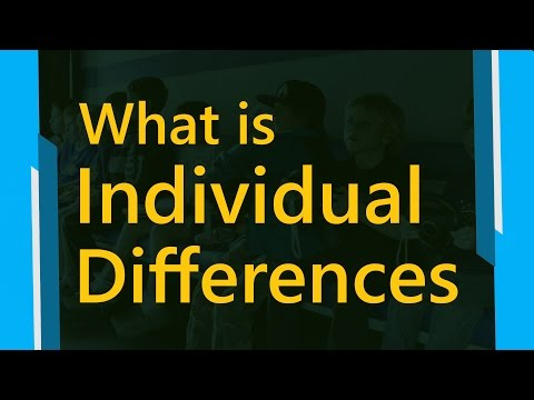 What is individual differences | Type Of Individual Differences | Psychology Terms || SimplyInfo.net