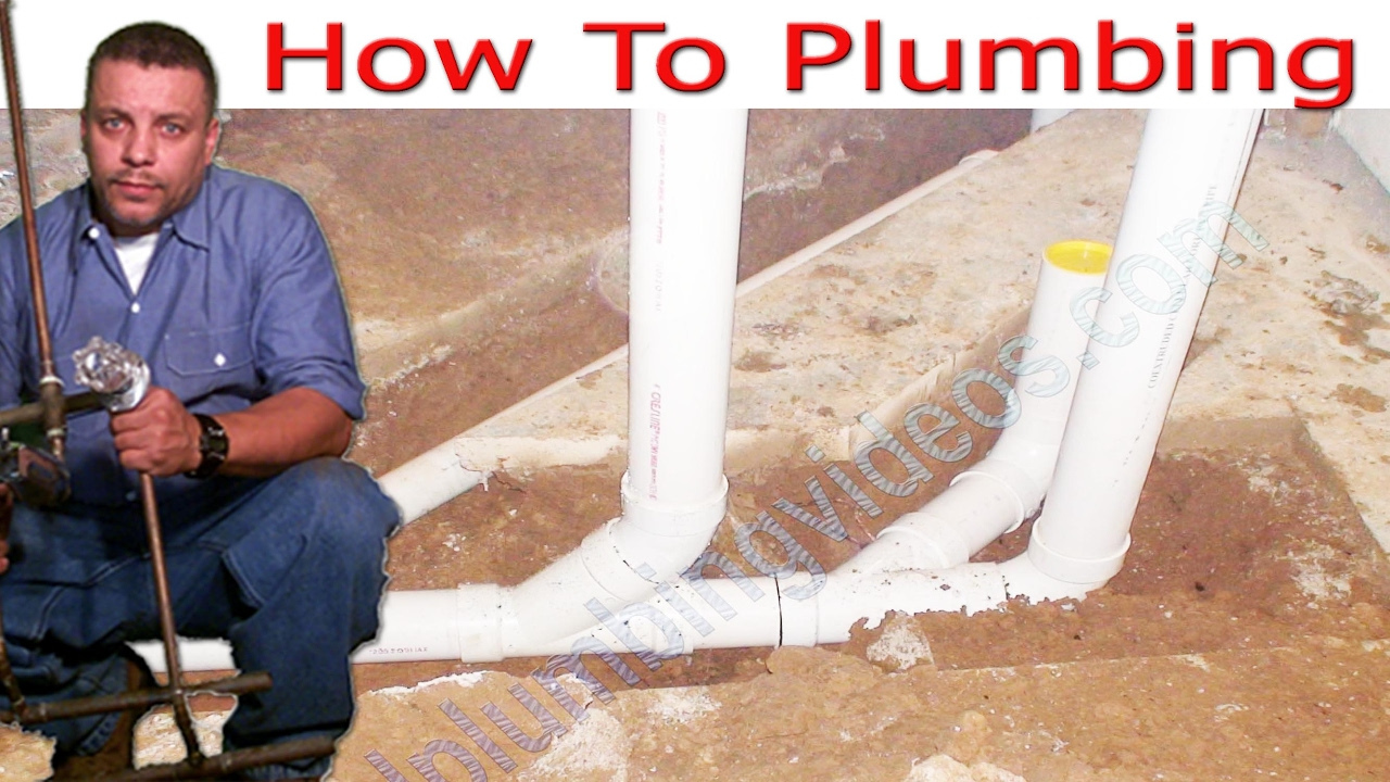 Plumbing ground rough in slide show - YouTube
