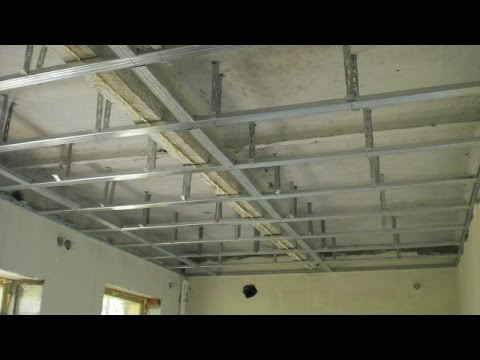 № 2 Подвесной потолок из гипсокартона своими руками. Часть вторая (из трёх)