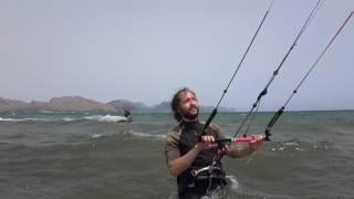 kite spot mallorca kiten mit flysurfer kiteschule Peak 9 mts Josep kite lehrer