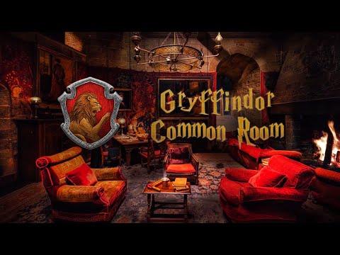 Gryffindor Common Room ⚡ Harry Potter Ambience 🔥 Hogwarts ASMR
