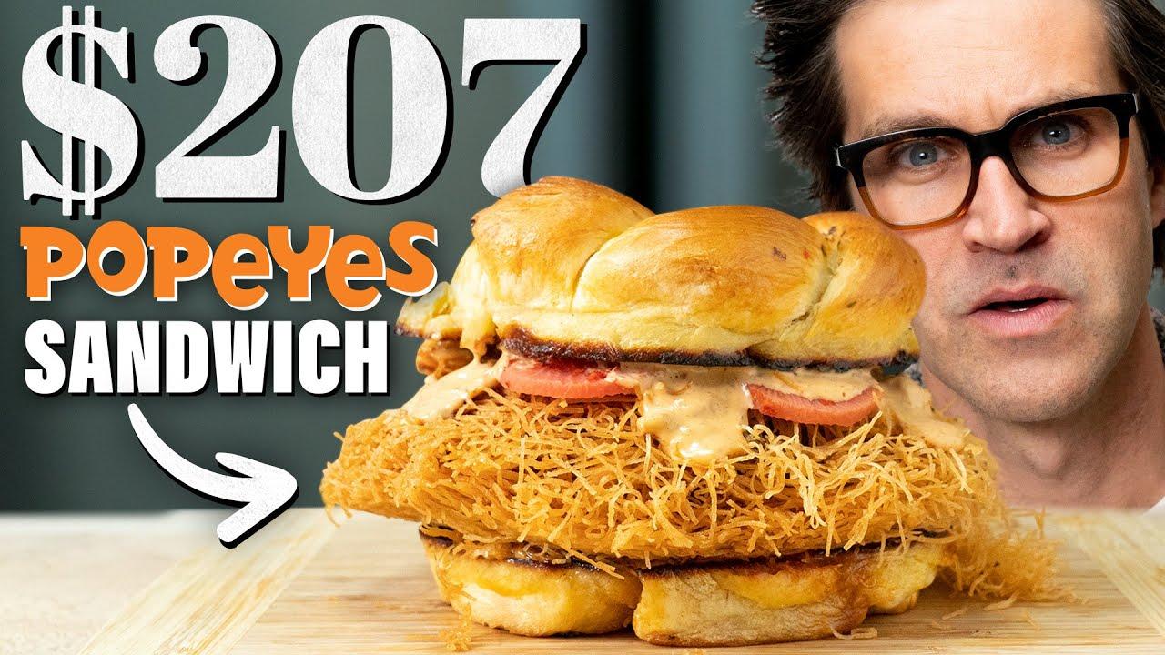 Download $207 Popeye's Spicy Chicken Sandwich Taste Test | Fancy Fast Food