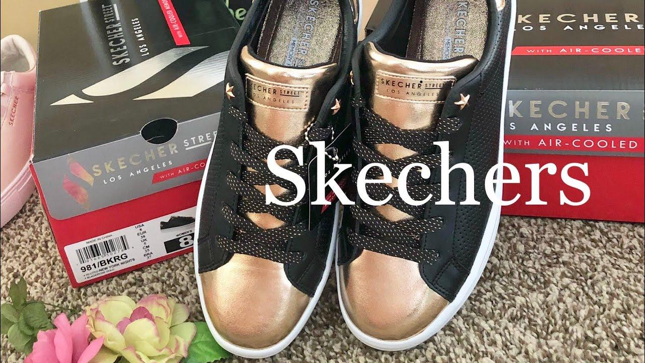 Skechers ☜UNBOXING☞ Women's Hi Lite New York Nights Sneaker Black