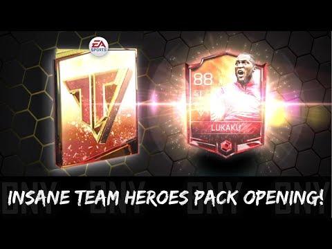 OMG 88 OVR TEAM HERO AGAIN! INSANE FIFA MOBILE 18 TEAM HEROES PACK OPENING!
