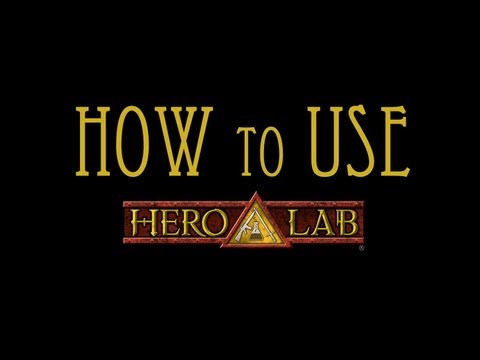How to Use Hero Lab to Make Characters for D&D/Pathfinder