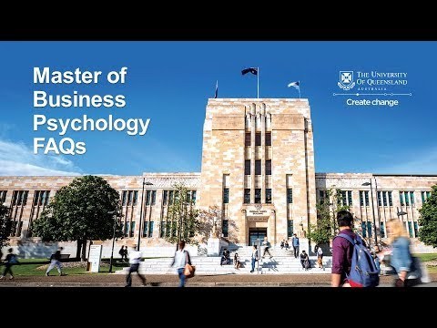 Master of Business Psychology - Information Video
