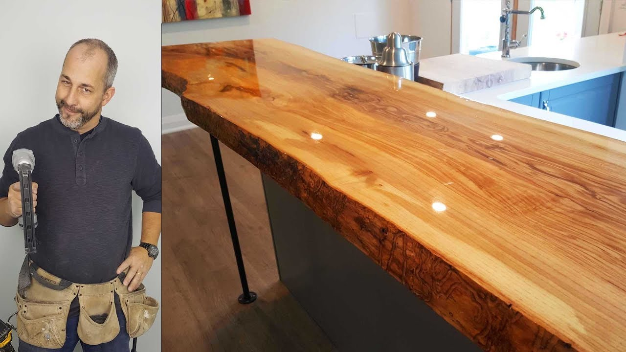 How to Build A Live Edge Counter top for under $500.00 - YouTube