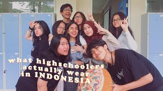 what highschoolers in INDONESIA are actually wearing *private school*