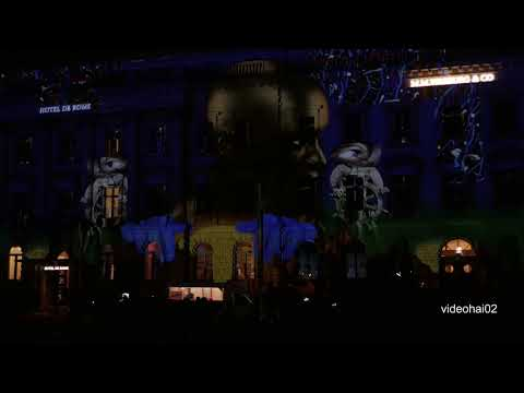 14.Festival of lights Berlin 2018 .      Hotel de Rome die ganze Show