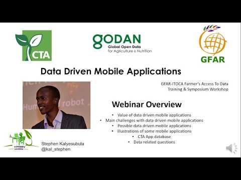 "GFAR / GODAN / CTA webinar ""Data Driven Mobile Applications"""