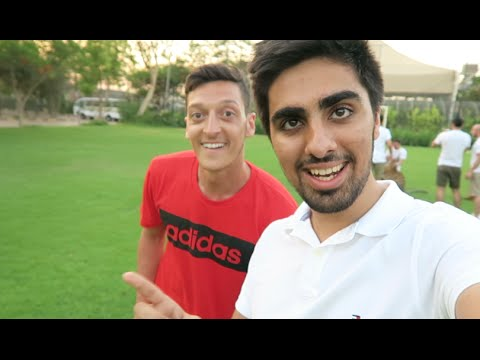 Mesut Ozil - Cross Bar Challenge in DUBAI !!!